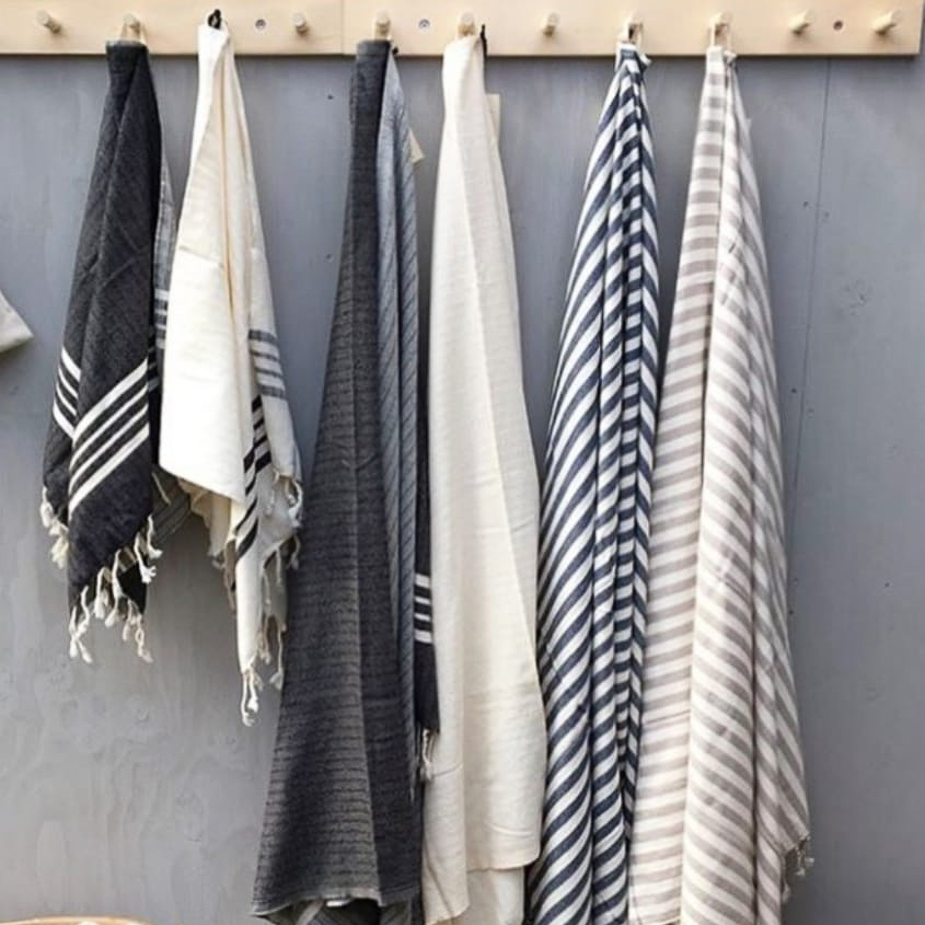 Hand-woven textiles from Turkey for your bath, home, and beach; all textiles are certified chemical free and are pre-washed.