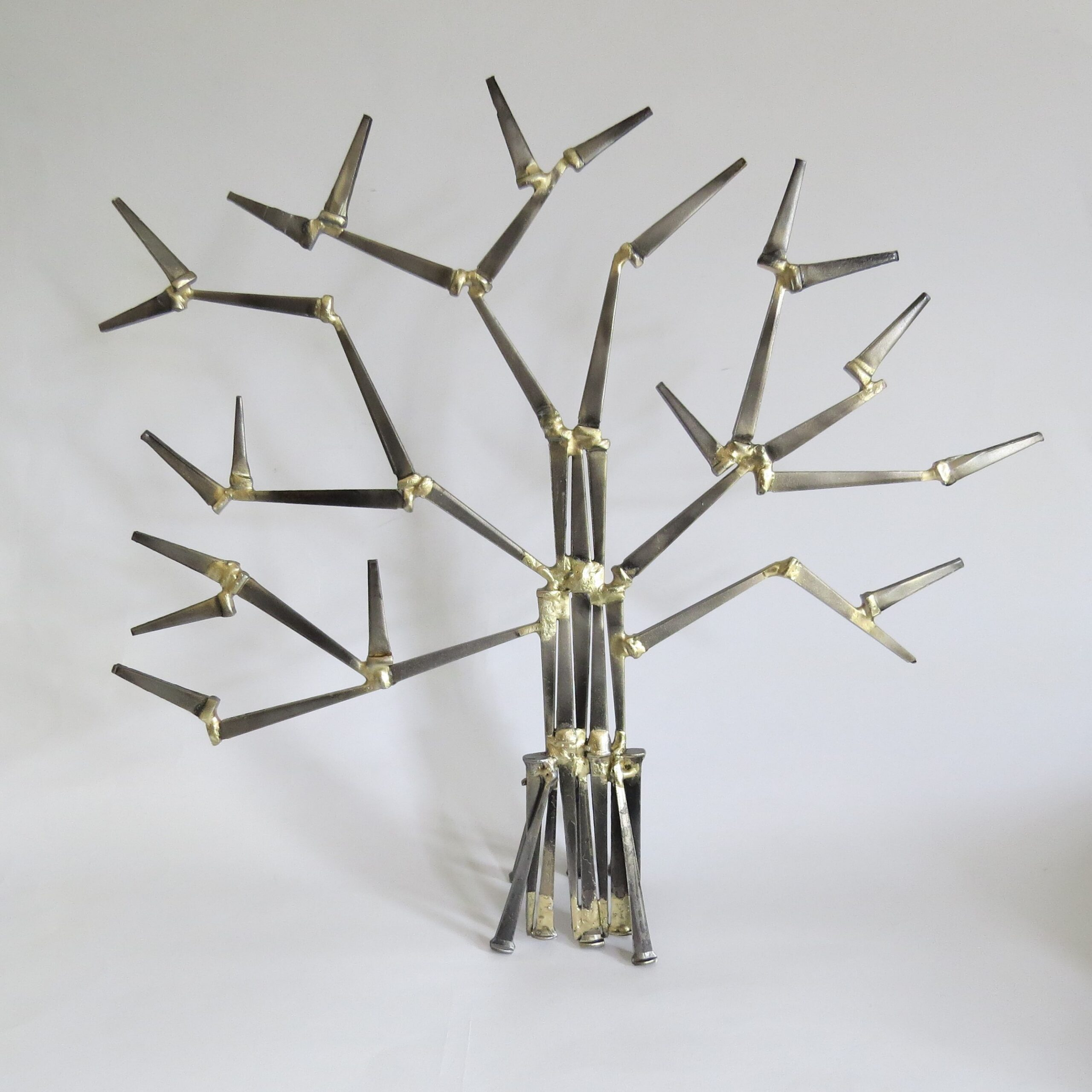 Hand brazed and steel creatively and custom designed.