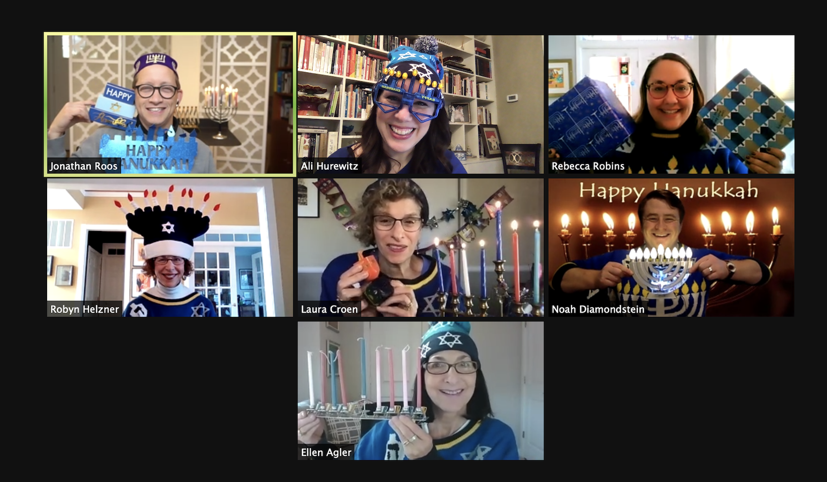 Happy Chanukah from our Ritual and Director Staff!